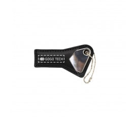 Triangle Metal Key USB Flash Drive with PU Leather Case