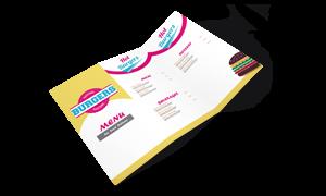 Print Folded Menus Online