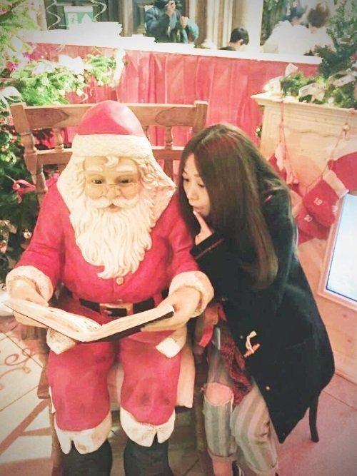 Amelia and Santa!