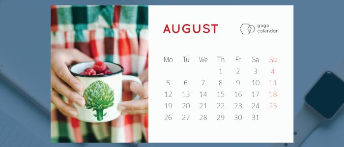 Printable Desk Calendar Template for 2019