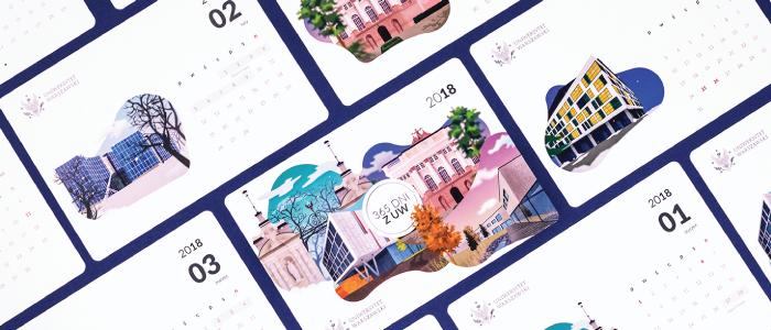 Desk Calendar with Illustrations
