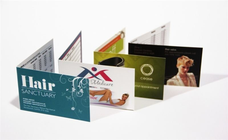 A perfect example of folded business card