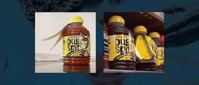 Unusual honey jar packaging