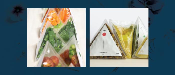 Onigiri packaging for vegetables